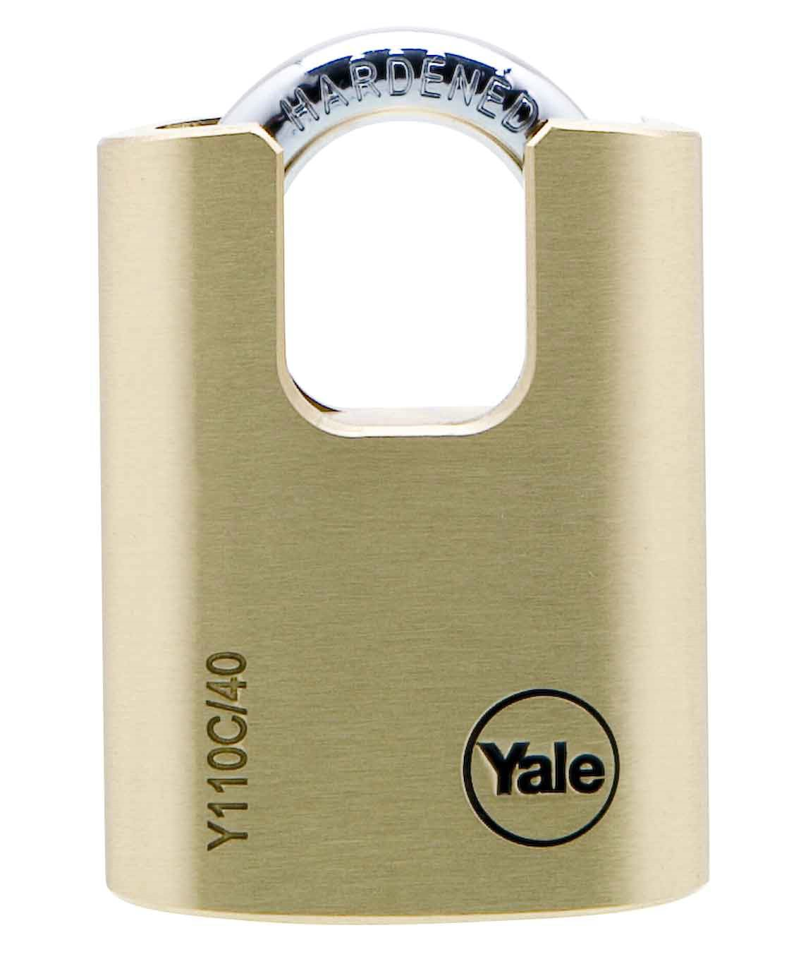 Y110C - Brass Padlock Closed Shackle
