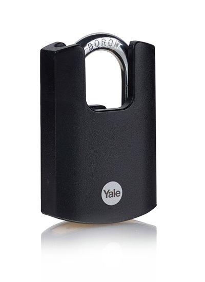 Y121B Black Jacket Padlock Brass