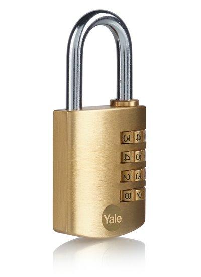 Y150B Combination Padlock Brass
