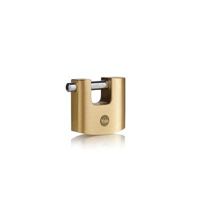 Y114B - Mosazný visací zámek na roletové dveře