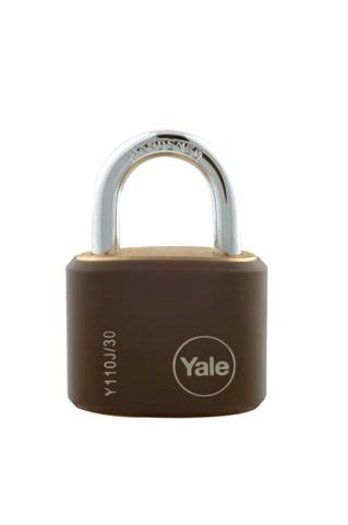 Y110J - Brass Padlock with Protective Cover (Pk 4)