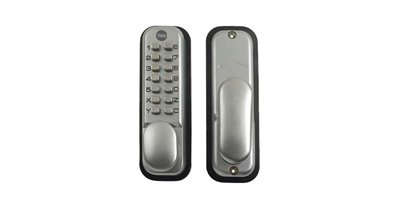 Push button lock with hold open function