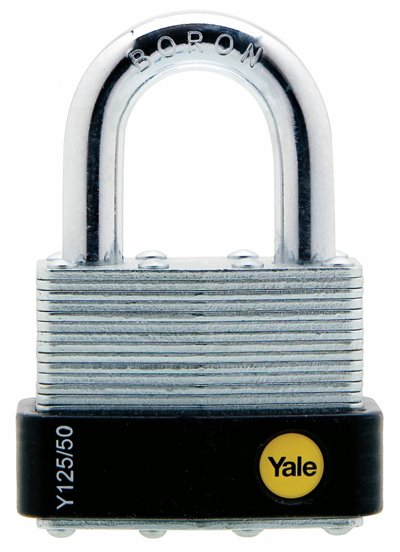 Y125 Laminated Steel Ball Locking Padlock