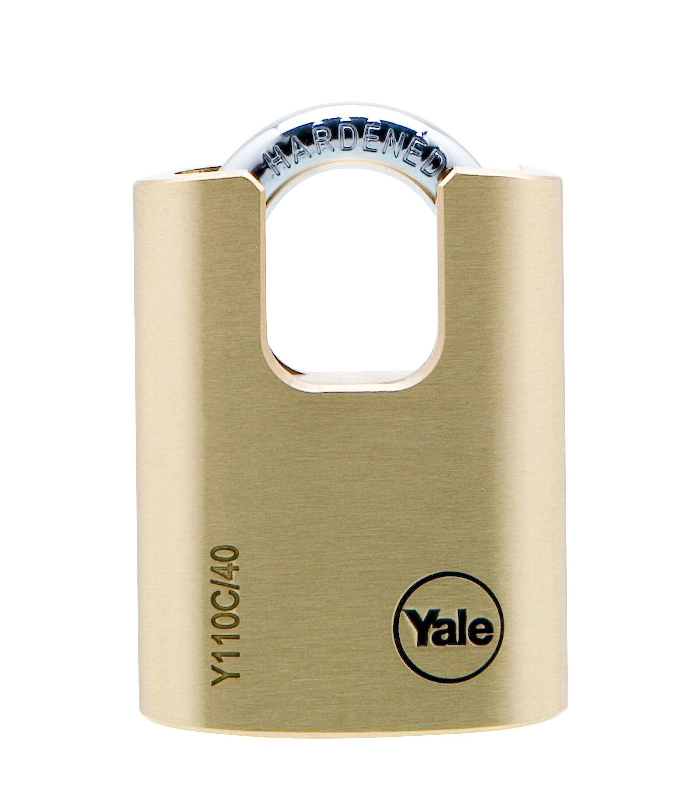 Y110C/40/119/1 - Cadenas en laiton 40 mm à ance protégée