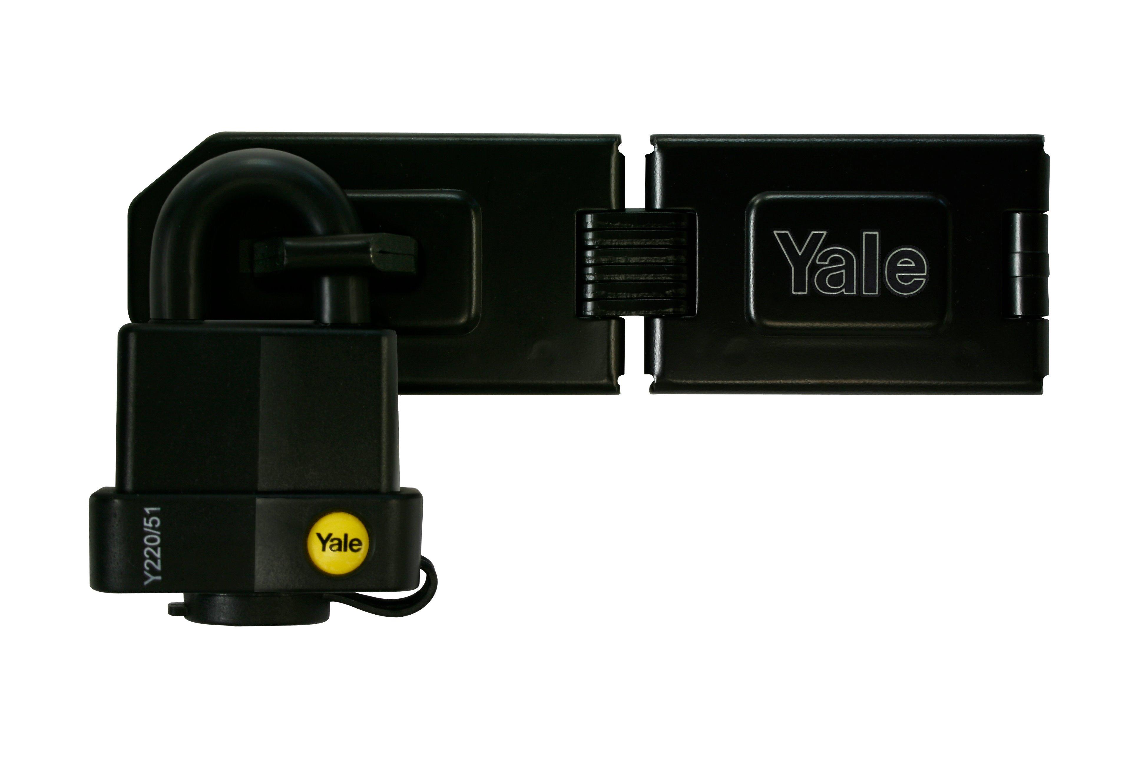 Y220 Hasp Steel Black Finish With Weatherproof Padlock