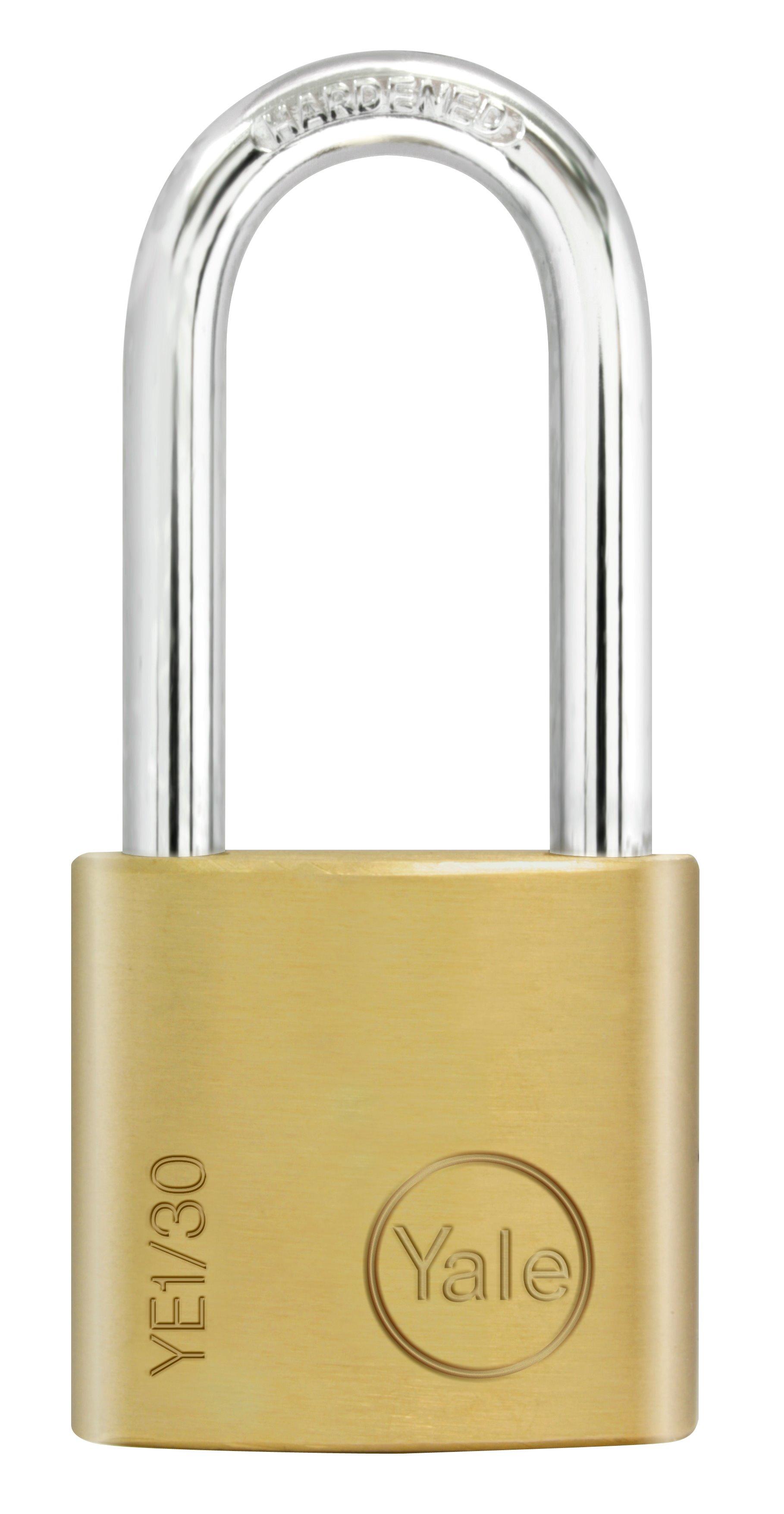 Ye1 Essential Padlock Long Shackle Brass Padlocks